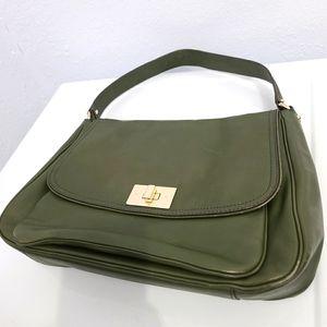 KATE SPADE Leather Olive Green Shoulder Bag